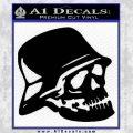Nazi Skull Helmet WW2 Decal Sticker Black Vinyl 120x120