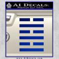 Snake Eyes Clan Logo D1 Decal Sticker Blue Vinyl 120x120
