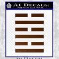 Snake Eyes Clan Logo D1 Decal Sticker Brown Vinyl 120x120