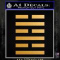 Snake Eyes Clan Logo D1 Decal Sticker Gold Metallic Vinyl 120x120
