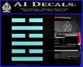 Snake Eyes Clan Logo D1 Decal Sticker Light Blue Vinyl 120x97