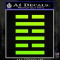 Snake Eyes Clan Logo D1 Decal Sticker Neon Green Vinyl 120x120