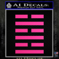 Snake Eyes Clan Logo D1 Decal Sticker Neon Pink Vinyl 120x120