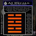 Snake Eyes Clan Logo D1 Decal Sticker Orange Emblem 120x120