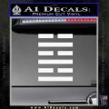 Snake Eyes Clan Logo D1 Decal Sticker White Vinyl 120x120