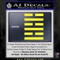 Snake Eyes Clan Logo D1 Decal Sticker Yellow Vinyl 120x120
