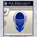 Snake Eyes GI Joe Helmet Decal Sticker Blue Vinyl 120x120