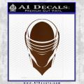 Snake Eyes GI Joe Helmet Decal Sticker Brown Vinyl 120x120