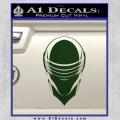 Snake Eyes GI Joe Helmet Decal Sticker Dark Green Vinyl 120x120