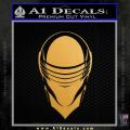 Snake Eyes GI Joe Helmet Decal Sticker Gold Metallic Vinyl 120x120