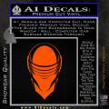 Snake Eyes GI Joe Helmet Decal Sticker Orange Emblem 120x120
