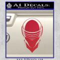 Snake Eyes GI Joe Helmet Decal Sticker Red Vinyl 120x120