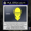 Snake Eyes GI Joe Helmet Decal Sticker Yellow Vinyl 120x120