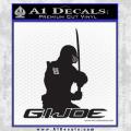 Snake Eyes GI Joe Sword Decal Sticker Black Vinyl 120x120
