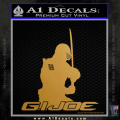 Snake Eyes GI Joe Sword Decal Sticker Gold Metallic Vinyl 120x120