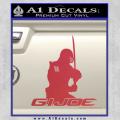 Snake Eyes GI Joe Sword Decal Sticker Red Vinyl 120x120