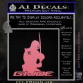 Snake Eyes GI Joe Sword Decal Sticker Soft Pink Emblem 120x120