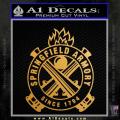 Springfield Armory Firearms Decal Sticker Gold Metallic Vinyl 120x120