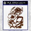 Street Fighter Ryu Fireball Decal Sticker BROWN Vinyl 120x120