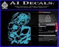 Street Fighter Ryu Fireball Decal Sticker Light Blue Vinyl 120x97