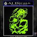 Street Fighter Ryu Fireball Decal Sticker Lime Green Vinyl 120x120