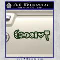Superhero Coexist D2 Decal Sticker Dark Green Vinyl 120x120