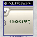 Superhero Coexist Decal Sticker Dark Green Vinyl 120x120