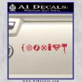 Superhero Coexist Decal Sticker Red Vinyl 120x120