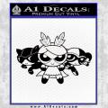 Supervillains Powerpuff Girls Decal Sticker Black Vinyl 120x120