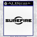 Sure Fire Decal Sticker Black SureFire Vinyl 120x120