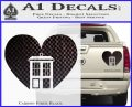 TARDIS Heart Decal Sticker DI Carbon Fiber Black 120x97
