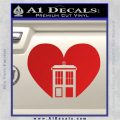 TARDIS Heart Decal Sticker DI Red Vinyl 120x120