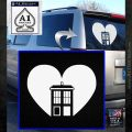 TARDIS Heart Decal Sticker DI White Emblem 120x120