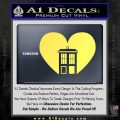 TARDIS Heart Decal Sticker DI Yelllow Vinyl 120x120