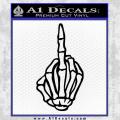 The Finger Decal Sticker Black Skeleton Hand Vinyl 120x120