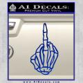 The Finger Decal Sticker Skeleton Hand Blue Vinyl 120x120