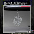 The Finger Decal Sticker Skeleton Hand Grey Vinyl 120x120
