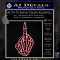 The Finger Decal Sticker Skeleton Hand Soft Pink Emblem 120x120