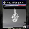 The Finger Decal Sticker Skeleton Hand White Vinyl 120x120