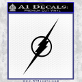 The Flash Decal Sticker Black Wide Vinyl 120x120