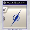 The Flash Decal Sticker Wide Blue Vinyl 120x120