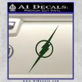 The Flash Decal Sticker Wide Dark Green Vinyl 120x120