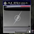 The Flash Decal Sticker Wide Grey Vinyl 120x120