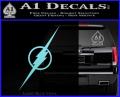 The Flash Decal Sticker Wide Light Blue Vinyl 120x97