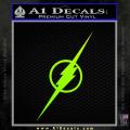 The Flash Decal Sticker Wide Neon Green Vinyl 120x120