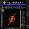 The Flash Decal Sticker Wide Orange Emblem 120x120