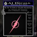 The Flash Decal Sticker Wide Soft Pink Emblem 120x120