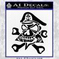 US Navy – Chief Decal Sticker Skull Black Vinyl 120x120