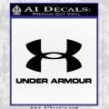 Under Armor Decal Sticker Full Black Vinyl 120x120