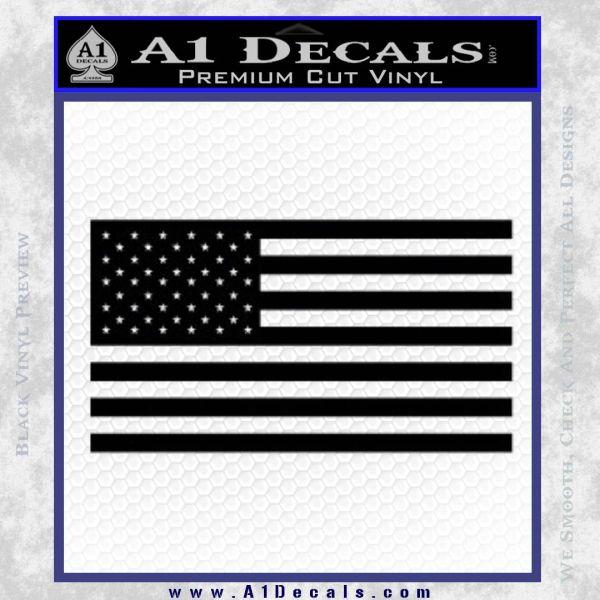 United States Flag Decal Sticker D1 Black Vinyl